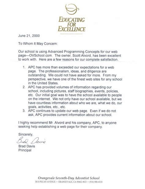 Letter Of Recommendation From To College College Recommendation Letters New Calendar Template Site