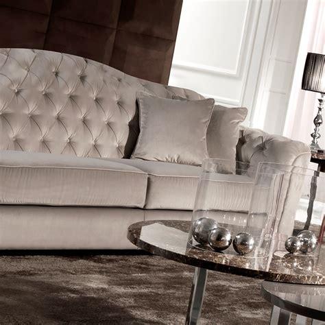 italian classic sofa classic italian button upholstered luxury velvet sofa