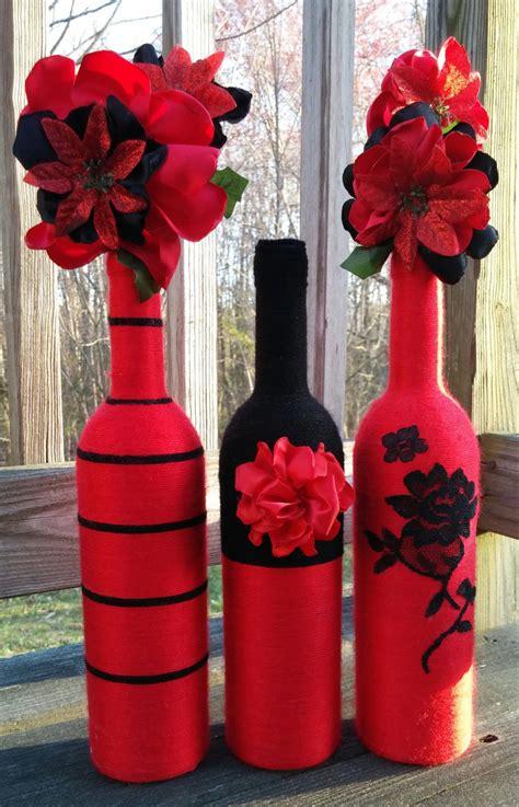 yarn bottles vase set flower vases centerpieces