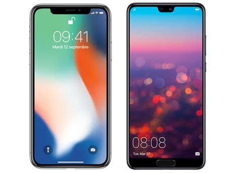 iphone v huawei comparatif iphone x vs huawei p20 pro lequel choisir