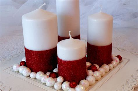 Candle Decoration Craft by Glitter Candles Easy Diy Decorations Two