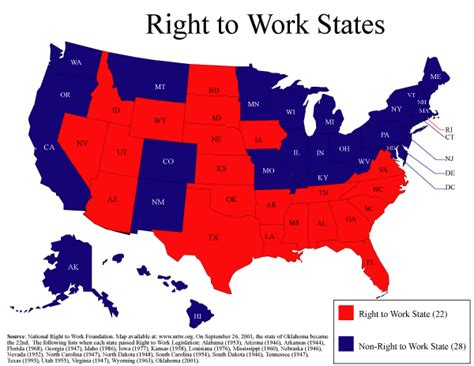 map to work the whited sepulchre right to work states 2008 states and swing states