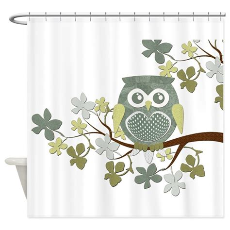 owl shower curtain polka owl in tree shower curtain by natureslittletreasures