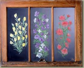 Flowers Tucson - old window art by sandra montgomery