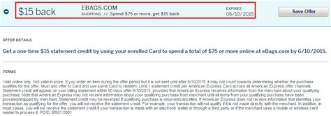Ebags Gift Card - ebags amex offer and updates regarding us bank flexperks citi american airlines and