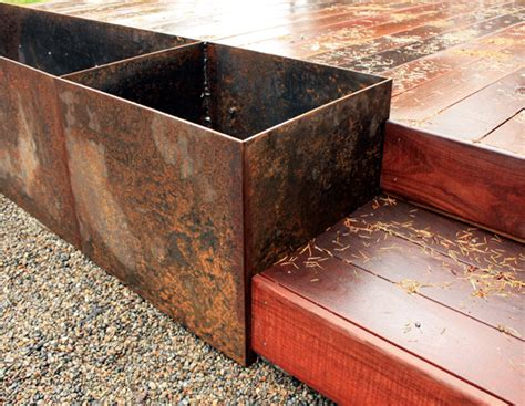 steel planter boxes steel planter box chezerbey