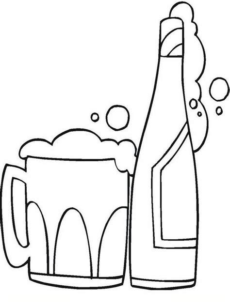 imagenes para pintar sobre la droga colorea tus dibujos botella de cerveza para colorear y pintar