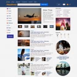 News Magazine Website Design Template On Web News Magazine Template