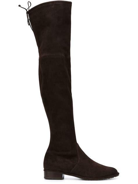 stuart weitzman shoes stuart weitzman lowland boots in brown lyst