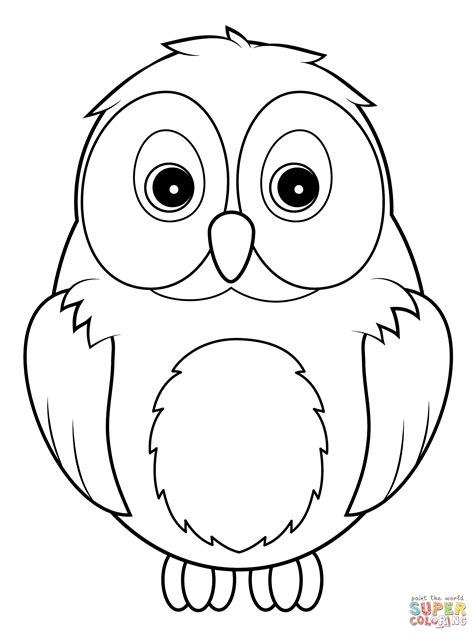 Cute Owl Coloring Page Free Printable Coloring Pages Owl Coloring Pages