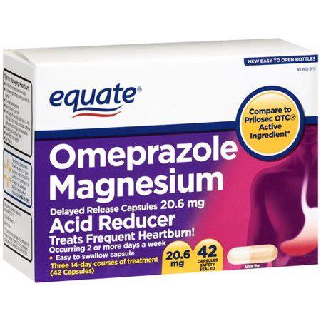 equate omeprazole magnesium capsules 20.6mg, 42ct