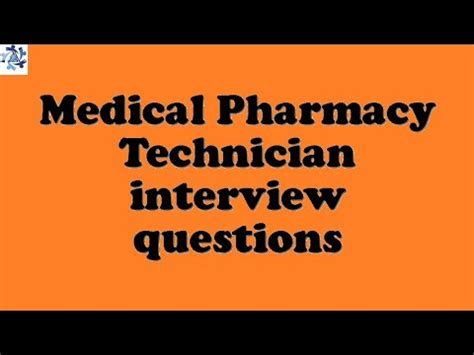 pharmacy technician questions