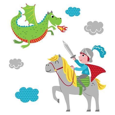 chambre enfant chevalier sticker mural quot et chevalier quot motif enfant gar 231 on