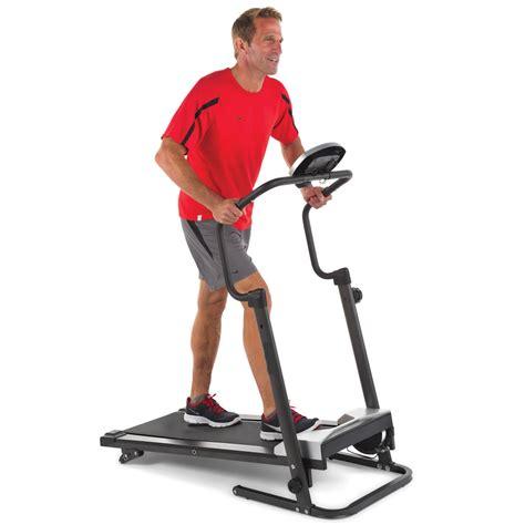 walker treadmill the walker s foldaway treadmill hammacher schlemmer