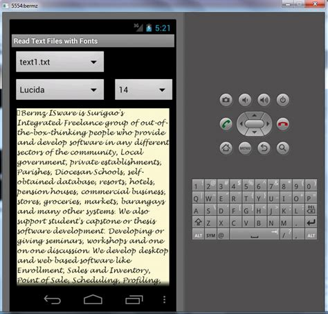 android read text read text files with fonts in android free source code