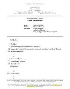 Memo Template To Board Of Directors Board Meeting Memo Template Sle Board Meeting Memo Template Sle Templates
