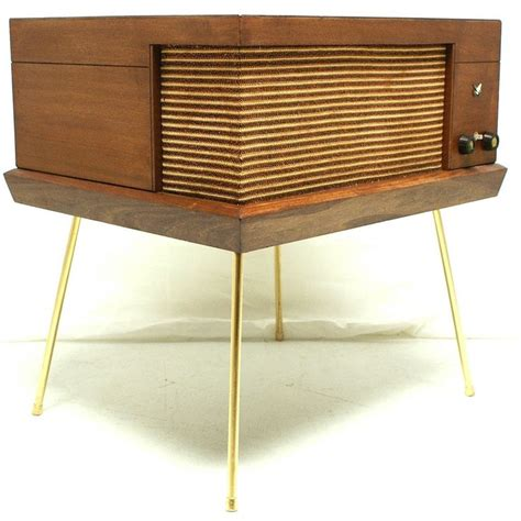 Vintage 50s 60s Mid Century Voice Of Music Record Player Modern Av Furniture