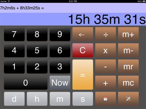 Calendar Calculator Hours Time Calculator Iphone App