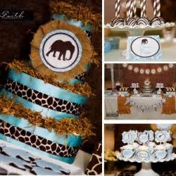 Safari themed baby shower with such cute ideas via kara s party ideas