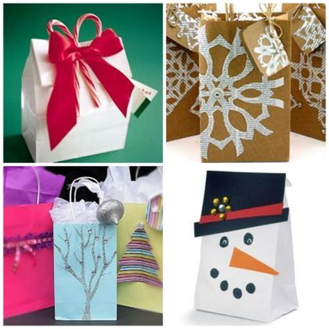 easy ideas to make a holiday gift bag christmas pinterest