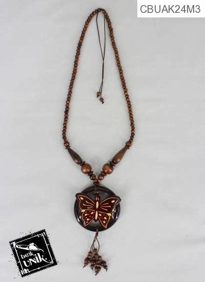 Kayu Ukir Unik kalung kayu etnik ukir cantik kalung etnik murah
