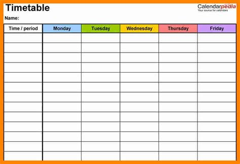 7 weekly study timetable day care resume