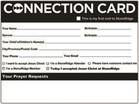 free church connection card template 1000 images about church prayer connection cards on