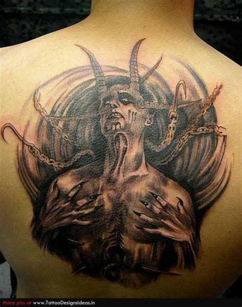 angel demon tattoos for men devils and demons originally believed to be a