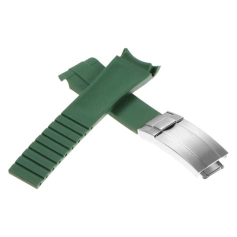 Rolex Rx1 oysterflex replacement with silver clasp strapsco