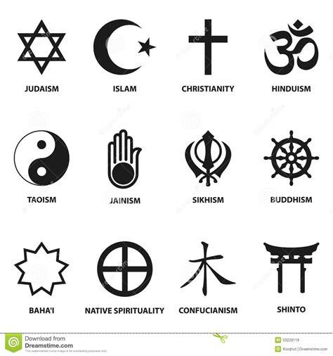 imagenes simbolos religiosos muestra y s 237 mbolos religiosos ilustraci 243 n del vector