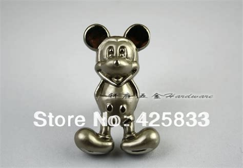 aliexpress buy 10pcs silver mickey mouse knobs