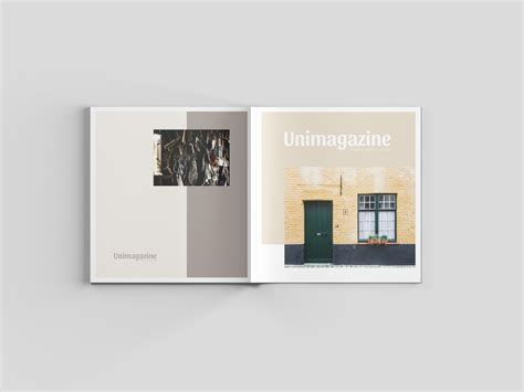 design photo mockups square magazine mockup