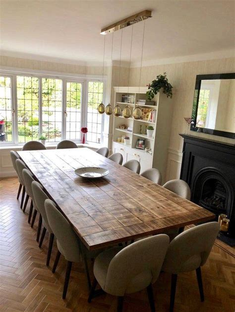 rustic industrial extra large dining table boardroom