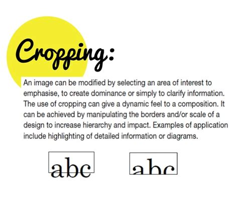 layout elements definition definition of cropping cropping pinterest definitions