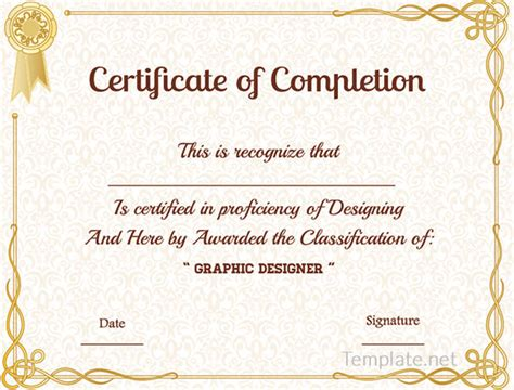 Sample course completion certificate template resume pdf download sample course completion certificate template yadclub Images