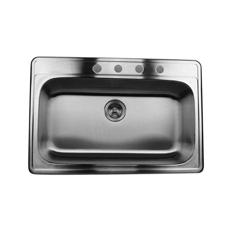 Shop Nantucket 22 In X 33 In Satin Single Basin Stainless Stainless Steel Kitchen Sinks 33 X 22