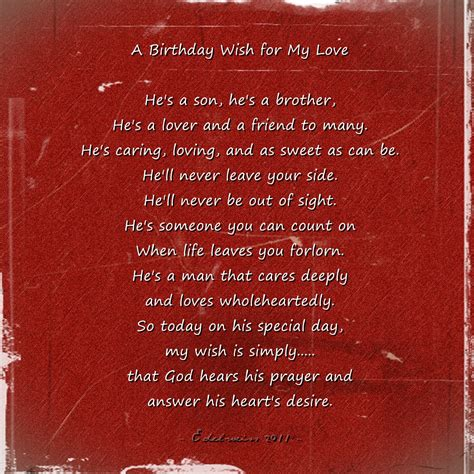 Birthday Wishes Quotes For Him Birthday Quotes Love Quotes About Love