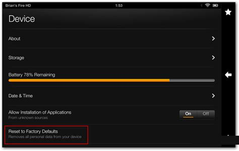 reset kindle online how to reset factory settings to kindle fire hd tablet