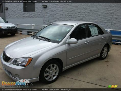 2006 Kia Spectra Sx 2006 Kia Spectra Sx Sedan Clear Silver Gray Photo 10