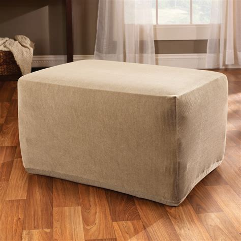 Slipcovers For Ottomans by Sure Fit Stretch Stripe Ottoman Slipcover Chair