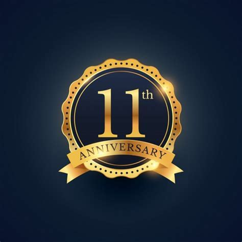 11th anniversary, golden edition Vector   Free Download