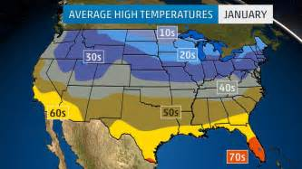 us map high temperatures monthly average temperatures weather