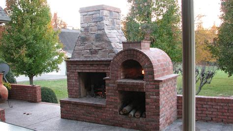 Fireplace Pizza Oven Combo by Brickwood Ovens Wood Fired Brick Pizza Oven And