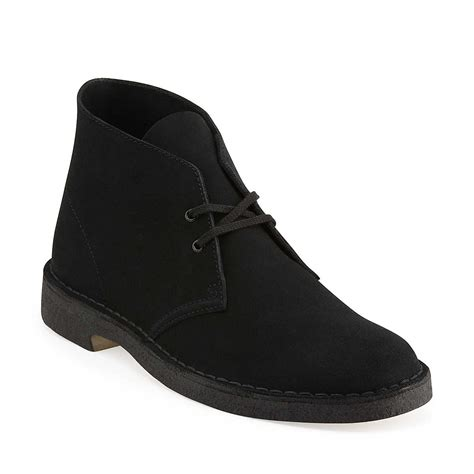 preorder clark desert boot black suede 31691 jwong boutique