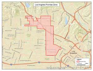 Los Angeles Zone Map coalition submits application for south l a promise zone