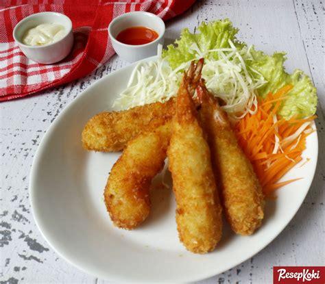 udang goreng tepung ala resto jepang ebi furai resep