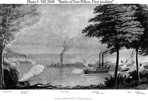 The Battle Of Fort Pillow by Confederate Ships Css Rebel 1862