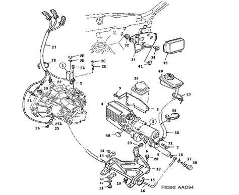 security system 1994 saab 900 transmission control clutch control sensonic automatic clutch system