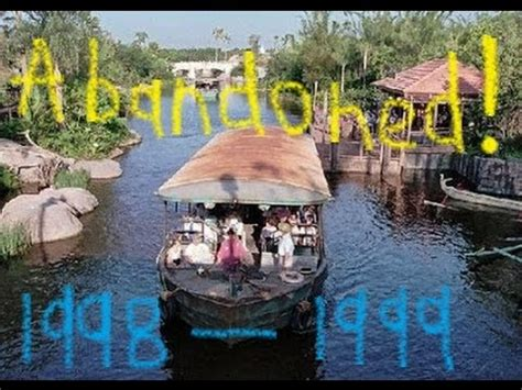 discovery river boats walt disney world abandoned youtube