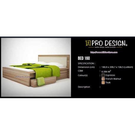Ranjang Pro Design by Ranjang Kayu Pro Design Bed 160 L Batavia
